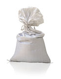 Large plastic sack on white background Royalty Free Stock Image