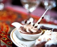 Large plate of Arabic sweet Stock Photo