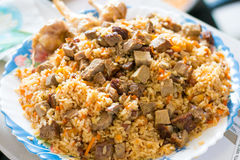 Large plate of Pilaf Royalty Free Stock Photo