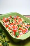 Large plate salad Stock Photos