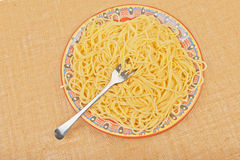 A large plate of spaghetti Royalty Free Stock Photography