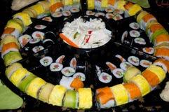 Large platter of sushi . Stock Image