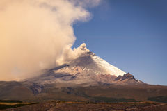 Large Plume Of Ash And Steam From The Cotopaxi Stock Image