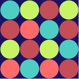 Large Polka Dots Background. Polka Dots background pattern in bright colors Royalty Free Stock Photo