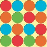 Large Polka Dots Background. Polka Dots background pattern in bright colors Royalty Free Stock Photos