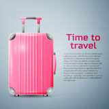 Large polycarbonate suitcase Royalty Free Stock Photo