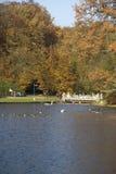 Large pond in park Sonsbeek in Arnhem Royalty Free Stock Images