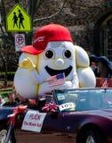 Large popcorn mascot Royalty Free Stock Images