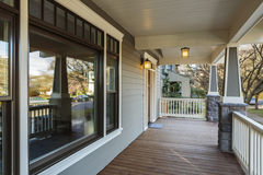 Large Porch Exterior of an Upscale Home Royalty Free Stock Image