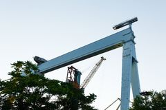 A large port crane, for 900 tons Royalty Free Stock Photo