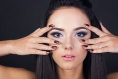 Large portrait with makeup Royalty Free Stock Photography