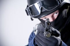 Large portrait of the soldier Stock Photography
