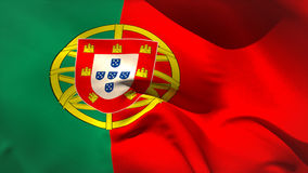 Large portugal national flag waving stock video