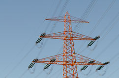 Large power. Lines with blue sky Stock Photo