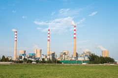 Large coal-fired power plant Royalty Free Stock Photography