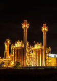 Large power plant. At night Stock Image