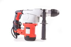 Large powerful modern drill - perforator isolated. On white background Stock Image