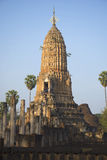 A large prang of Wat Phra si Ratana Mahathat in the early morning. Thailand Stock Images