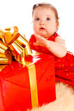 Large present Royalty Free Stock Photo