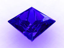 Large princess cut cobalt blue sapphire - 3D Royalty Free Stock Photo