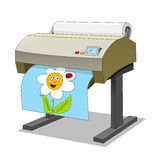 Large printer. Isolated vector illustration vector illustration