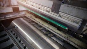 Large Printing Press. Typography Equipment. Large Printing Press. Concept Of Typography stock photography