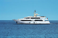 Large private motor yacht. At sea Royalty Free Stock Image