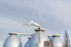 Large production plant biogas Royalty Free Stock Images