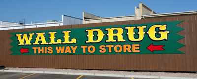 A large, prominent sign for a drug store Stock Images