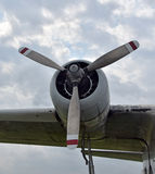 Large propeller airplane Royalty Free Stock Photography
