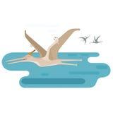 Large Pteranodon vector illustration