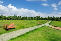 Large public green space Royalty Free Stock Images