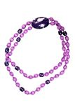 Large purple beads Royalty Free Stock Photography