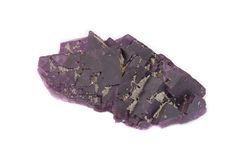 Large Purple Fluorite Crystal. Royalty Free Stock Photo
