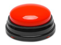 Large Push Button Side. Large Red Push Button Isolated on a White Background Royalty Free Stock Photography