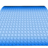 Large puzzle. Large empty puzzle background blue colored Royalty Free Stock Photography