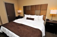 Large Queen Sized Bed Royalty Free Stock Photo