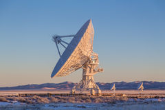 Large radio satellite dish Stock Photography
