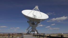 Large radio telescope stock video