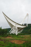 Large radio telescope in Norwegian mountains. Stock Images