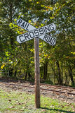 Large Railroad Crossing Sign Royalty Free Stock Images