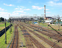 Large railway junction Royalty Free Stock Image