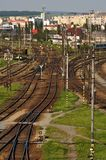 Large railway station Stock Photo