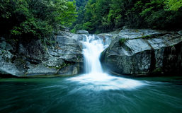 Large rain forest waterfall Royalty Free Stock Image