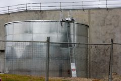 Large Rainwater Tank Royalty Free Stock Images