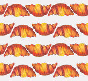 Large raster illustration dedicated to croissant. Stock Photos