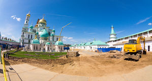 Large reconstruction of the Resurrection New Jerusalem Monastery Stock Photography