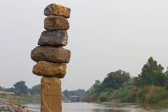 Large rectangular stones. Stock Photo