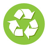 Large recycle icon great for any use, Vector EPS10. Stock Photos