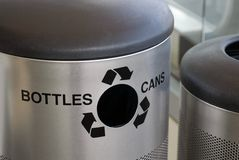 Large recycling bin Royalty Free Stock Images